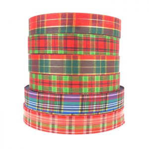 gift wrap 25mm tartan ribbon