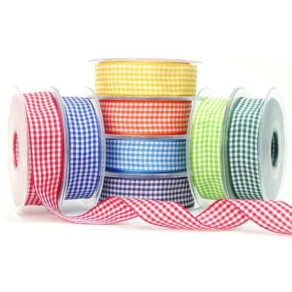 berisfords 7391 gingham ribbon