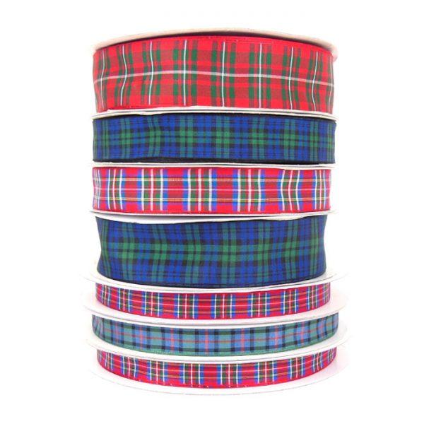 wholesale tartan ribbon