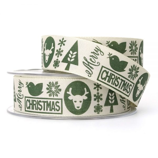 berisfords christmas motif ribbon 14448 col.3