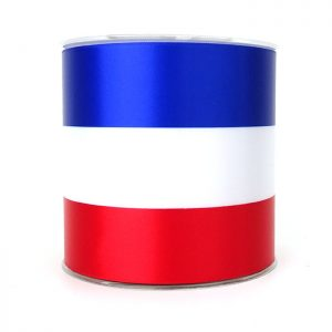 100mm red white blue ribbon