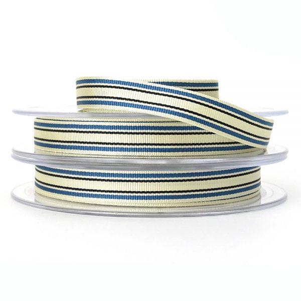 blue berisfords deckchair stripe ribbon