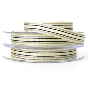 grey berisfords deckchair stripe ribbon