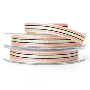 pink berisfords deckchair stripe ribbon