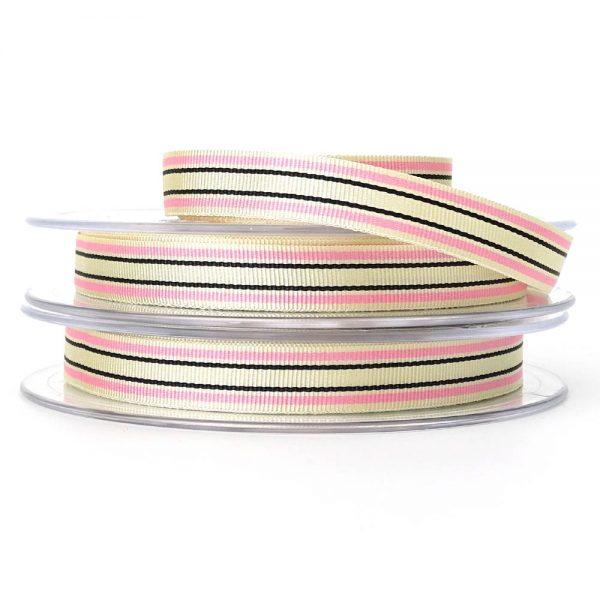pink berisfords deckchair stripe ribbon