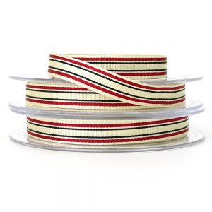red berisfords deckchair stripe ribbon