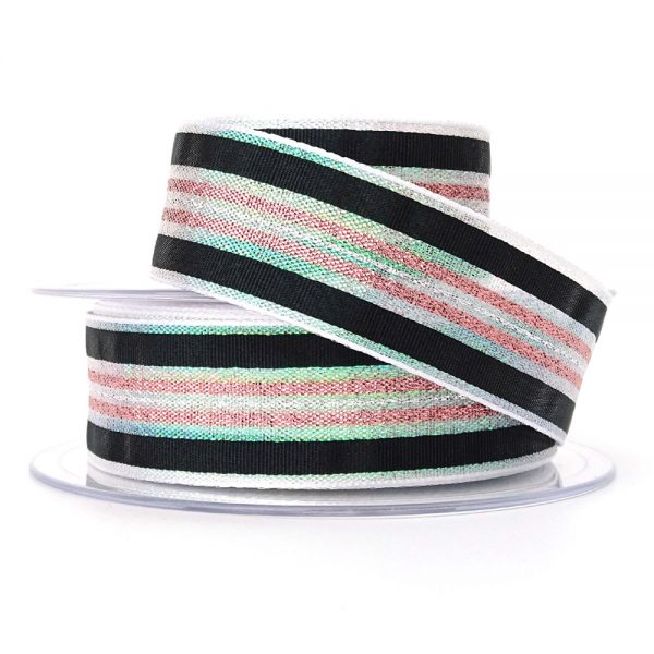 col 3 winter stripe ribbon berisfords 60175