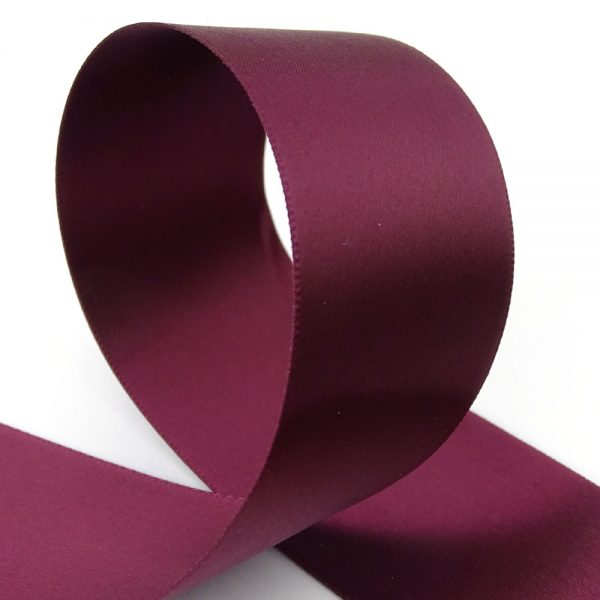 38mm claret double sided satin ribbon