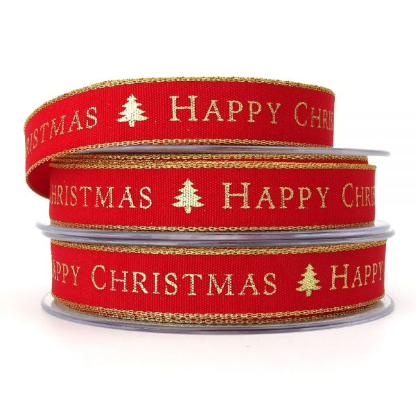 berisfords 13871 happy christmas ribbon col1