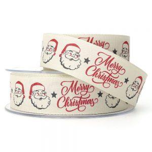 berisfords jolly santa christmas ribbon 14588