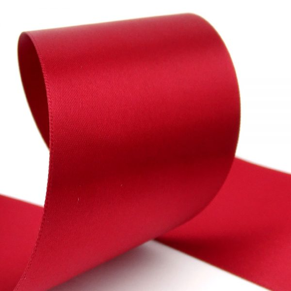 50mm cheap double sided satin ribbon cranberry