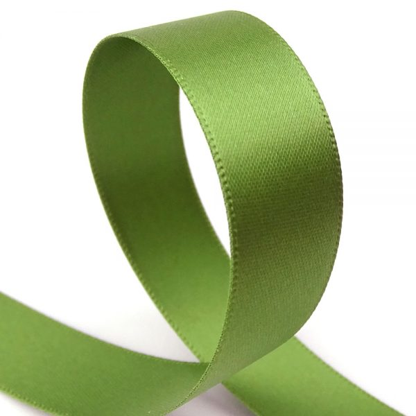 15mm ivy double sided satin ribbon