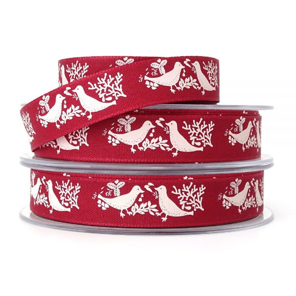 berisfords 14280 turtle dove christmas ribbon col2