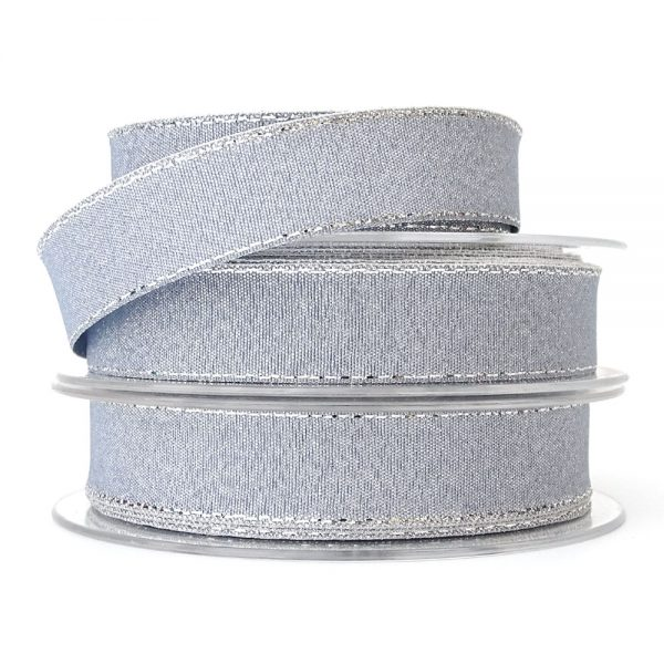 19mm silver lurex ribbon