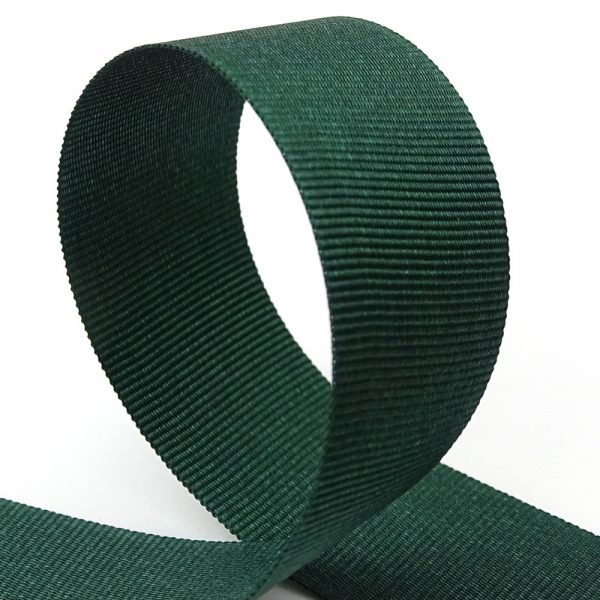 25mm spruce green grosgrain