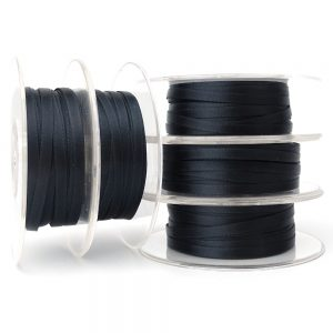5mm black double sided satin