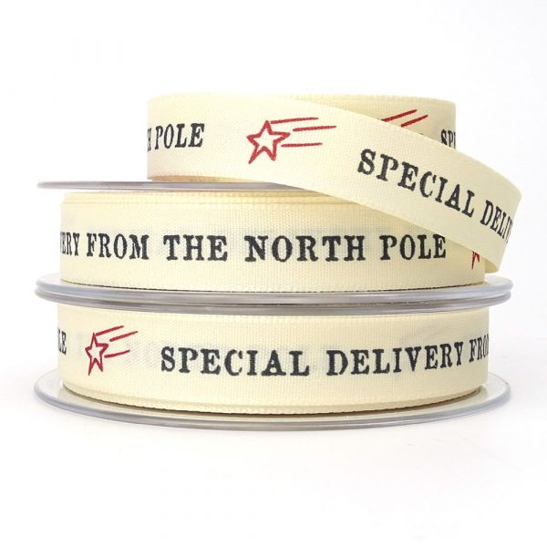 special delivery from the north pole christmas ribbon
