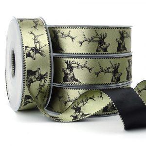 berisfords stags 14603 col 2 satin ribbon