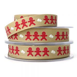 berisfords 14301 gingerbread man ribbon col.1