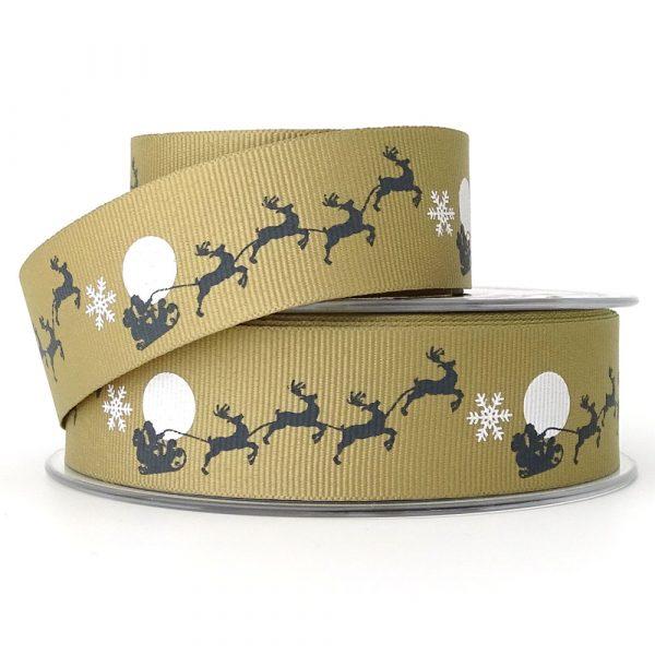 santas sleigh ribbon berisfords 14306