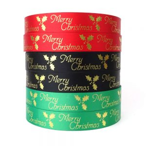 wholesale merry christmas ribbon