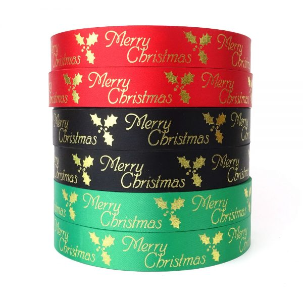 wholesale merry christmas ribbon