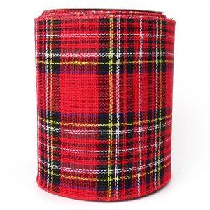 140mm winter tartan ribbon