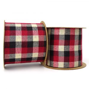 70mm black and red rustic tartan