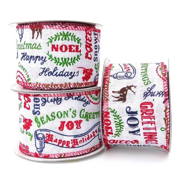 joyful greetings christmas ribbon