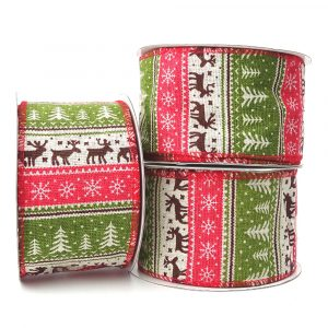 nordic fabric christmas ribbon