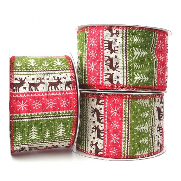 nordic fabric christmas ribbon