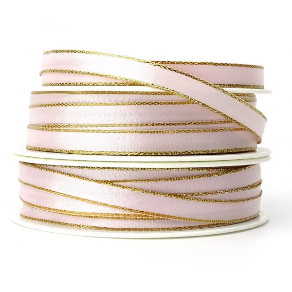 7mm blush pink lurex edge satin