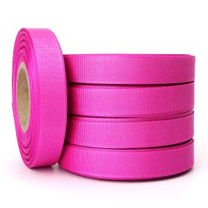 hot pink grosgrain 15mm