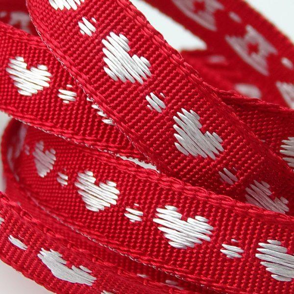 Berisfords Little Heart Ribbon 60191 col 9 white