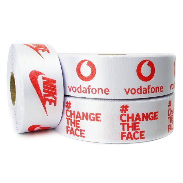 white single sided personalised printed ribbon