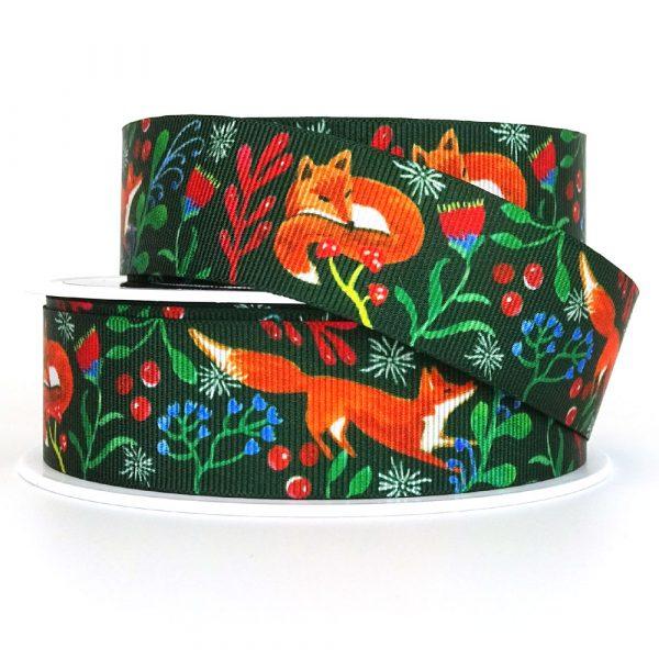 Fox Friends Berisfords Ribbon 80718 Col. 2 Green